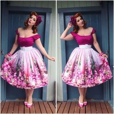 Beautiful floral skirt!