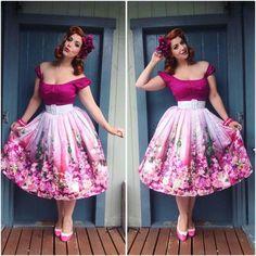 Beautiful floral skirt!