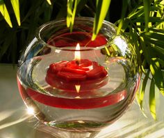 Root Chakra Floating Candle by Sylfora on Etsy