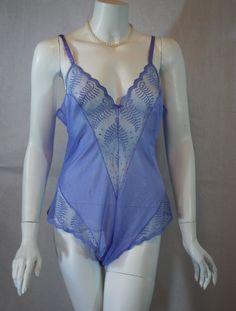 1980s Lavender Sheer Teddy, Warner's After Nine