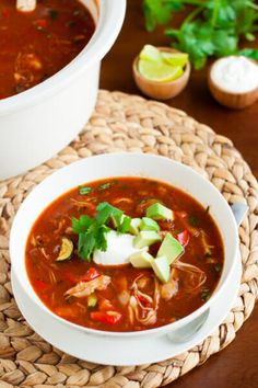 The Best Gluten Free healthy chicken tortilla soup recipe