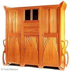 Famous Belgian Designer / Architect :  Henry van de Velde /   Cabinet, c. 1897 / Selected by www.20emesiecle.be