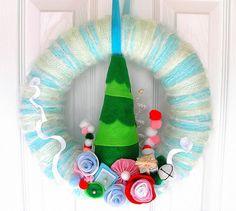 Whoville Yarn Wreath by KnockKnocking, via Flickr
