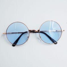 4.63AUD - Vintage Round Sunglasses Hippy Sunnies Shades Multi-Coloured Lens Frame Fashion #ebay #Fashion