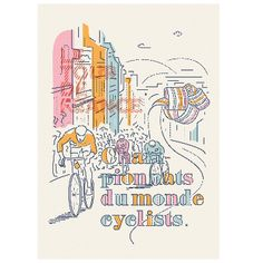 Tour De France Illustrated Print: Exclusive Illustration Print from James OConnell - manchester based illustrator - we thoroughly recommend checking out his skills on Instagram.