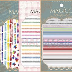 US $1.79 See detail Different 5 line DESIGNS Newest 1 P MAGICO series 3d nail art stickers nail art decal nail art stampingwholesale