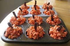 'pumpkin' popcorn balls