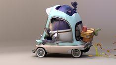 ArtStation - Monster Car, Glenn Melenhorst