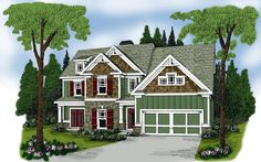 House Plan 72527 | Plan with 2292 Sq. Ft., 4 Bedrooms, 3 Bathrooms, 2 Car Garage