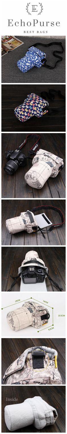 Handmade Cute SLR Camera Bag, Fashion Photography Bag, Carrying Case For EOS Nikon Pentax Olympus A113-2