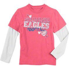 #Eagles Pink Girls Sparkle 2Fer Tee $22.99