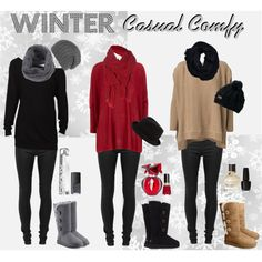 WINTER casual comfy (by caoticana on Polyvore)