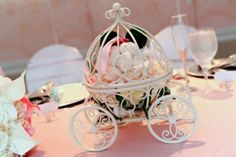 Cinderella Pumpkin Carriage Disney Wedding Centerpiece Silver or Cream Fairytale Wedding Table Centerpiece