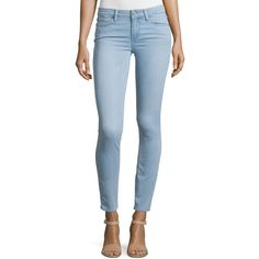 Paige Denim Verdugo Ultra Skinny Jeans ($200) ❤ liked on Polyvore featuring jeans, blue, zipper jeans, blue jeans, cropped jeans, paige denim and fitted jeans