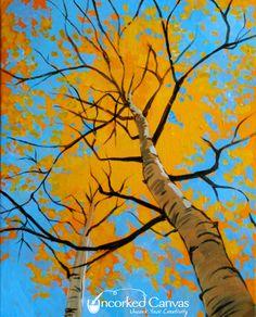 Spring Alders from Uncorked Canvas (Tacoma's premiere paint & sip studio) UncorkedCanvas.com