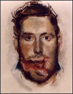 Henry Tonks dipinse ritratti viscerali e commoventi di soldati sfigurati. Henry Tonks drew visceral & touching portraits of disfigured WWI soldiers. World War One, First World, Cute Drawings Of Love, Ww1 Soldiers, War Image, English Artists, Dark Art, Art Drawings, Illustration Art