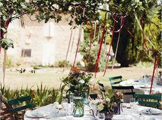 Decoation arbre jardin mariage