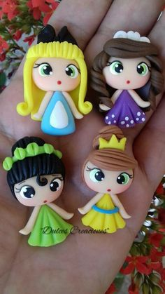 Never under estimate the power of Disney. Fimo Disney, Polymer Clay Disney, Polymer Clay Dolls, Polymer Clay Charms, Polymer Clay Creations, Polymer Clay Jewelry, Diy Fimo, Crea Fimo, Clay Projects