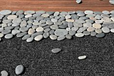 How to make a rock trivet or doormat...or edging for a garden? {Instructions}