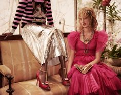 A month after the unveiling of its fall runway collection, Gucci has released its pre-fall 2016 campaign against the colorful setting of a glass-domed aviary. Photographed by Glen Luchford, models Lucas Dambrod, Polina Oganicheva, Eva Minaeva, Fionnan Perkins, Lia Pavlova, Anton Toftgard, Elle Van Ravels, Nicole Atieno and Laura Melerh wear whimsical designs including printed …