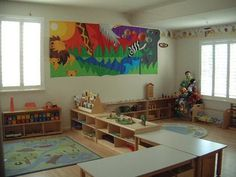 I just love the set up of a Montessori Classroom, all the work is displayed in a beautiful fashion on shelves.