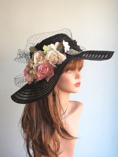 Hey, I found this really awesome Etsy listing at https://www.etsy.com/listing/202669879/black-wedding-hat-head-piece-kentucky