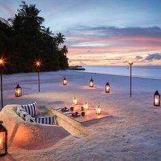 Romantic Beach, Romantic Places, Beautiful Places To Travel, Beautiful Hotels, Romantic Honeymoon, Romantic Travel, Romantic Moments, Best Vacations, Vacation Trips