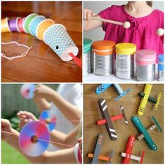 Look how amazing these educational toys are with recycling! These are beautiful ideas that will surely show you creative and inexpensive ways to make the recycled toys of your little ones. Kids Church Rooms, Kids Room, Recycled Toys, Au Pair, Dinosaur Party, Educational Activities, Luau, Diy For Kids, Recycling
