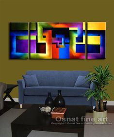 Modern abstract paintings on canvas. Back to Square Two is a hand-painted artwork, created by the artist Osnat Tzadok. An online art gallery of modern paintings - artwork id Simple Canvas Paintings, Canvas Art, Modern Artwork, Sculpture, Online Art Gallery, Abstract Art, Fine Art, Buddha, Graphics