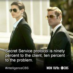 Riley, an ex-secret service agent. -Intelligence