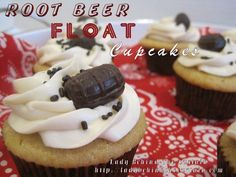 Rootbeer Float Cupcakes OMG! Must try!!! Next work function, I will be bringing these!