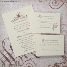 Disney Fairy Tale Wedding's partner for custom invitations, favors, save the dates, and more! Disney Invitations, Sweet Sixteen Invitations, Elegant Invitations, Custom Invitations, Wedding Invitations, Invites, Invitation Ideas, Renewal Wedding, Our Wedding