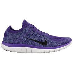 Nike Free 4.0 Flyknit - Women's - Running - Shoes - Court Purple/Black/Hyper Green/University Blue