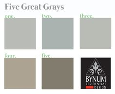 5 Great Gray Paint ColorsOther grays we love at Bynum Design: Sherwin Williams Gray Matters  (SW 7066) and Sherwin Williams Classic French Gray (SW 0077).