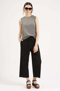 Pleated 'Awkward Length' Trousers - Trousers & Leggings - Clothing - Topshop