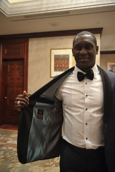 Emily Heskey using #wonghang Suits , Its Indonesia Local tailor