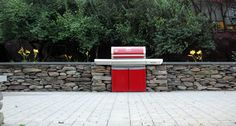 PA Field Stone with Built In Grill