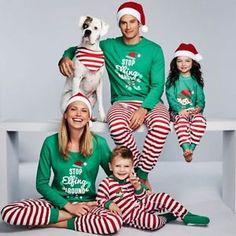 d1e883bee8 Family Matching Christmas Pajamas Set Women Baby Kids Elf Sleepwear  Nightwear. Adult Christmas PajamasChristmas PjsPajamas WomenKids  PajamasPajama ...