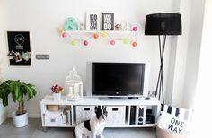 Mi salón con toques colorful!