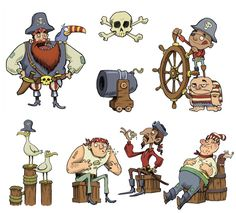 Aaron Blecha; Now I am a Pirate!  Pirate spot illustrations  Published by Ryland Peters Small