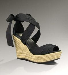 UGG LUCIANNA Womens Black Wedges #Glimpse_by_TheFind