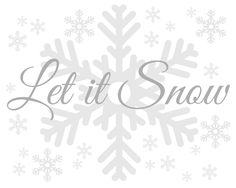 Free Let it Snow Printable from Blissful Roots