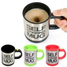Stainless Steel Tea Coffee Cup Self Strring Mug Automatica Plain Mixing-7.08 and Free Shipping