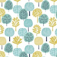 Eloise Renouf - First Light Flannel - Forest Flannel in Turquoise