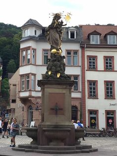 Awesome fountain with awesome art sculpture #Heidelberg #Germany