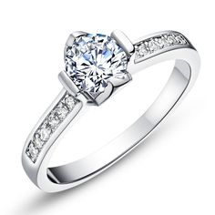 Find More Rings Information about Hot Sale New Style Crystal Ring Wedding Engagement Rings for Women Fashion Jewellery…