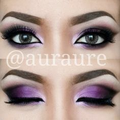 Purple ombre eyeshadow. It's pretty but ill never be able to do that lol