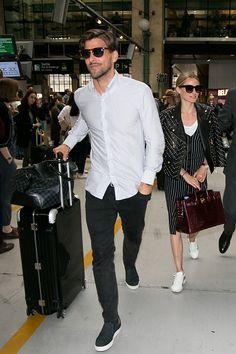 19fc9673583ef Johannes Huebl and wife Olivia Palermo arrive at  Gare du Nord  station on  July 2016 in Paris