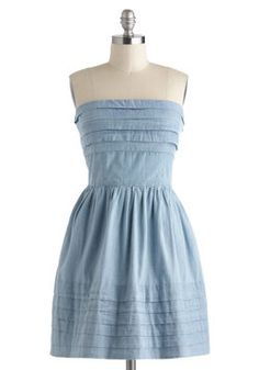 What a Keeper Dress in Chambray, #ModCloth  so cute