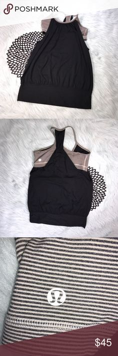 Lululemon Practice Freely Tank Black White Striped Lululemon Practice Freely Tank Black & White Striped. Size 6. Rip tag has been removed, so no materials/care available. Pre-owned, but in excellent used condition. No holes, stains or pilling. lululemon athletica Tops Tank Tops